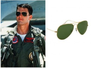 """L'icona Tom Cruise e i suoi """"aviator"""""""