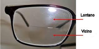 Occhiale con lenti bifocali